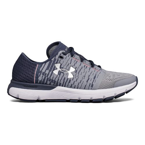 Womens Under Armour Speedform Gemini 3 GR Running Shoe - Steel/Grey 6.5
