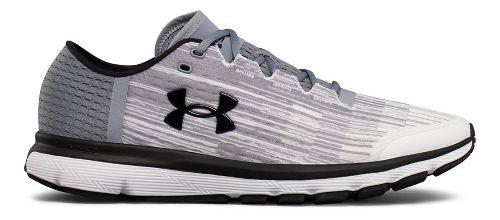 Mens Under Armour Speedform Velociti GR Running Shoe - White/Steel 7.5