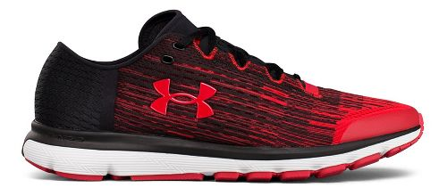 Mens Under Armour Speedform Velociti GR Running Shoe - Black/Red 10.5