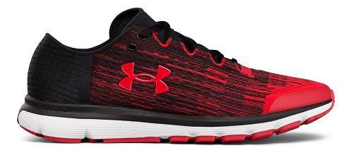 Mens Under Armour Speedform Velociti GR Running Shoe - Black/Red 11.5