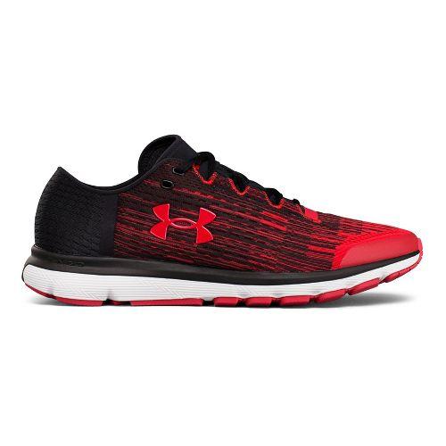 Mens Under Armour Speedform Velociti GR Running Shoe - Black/Red 9.5