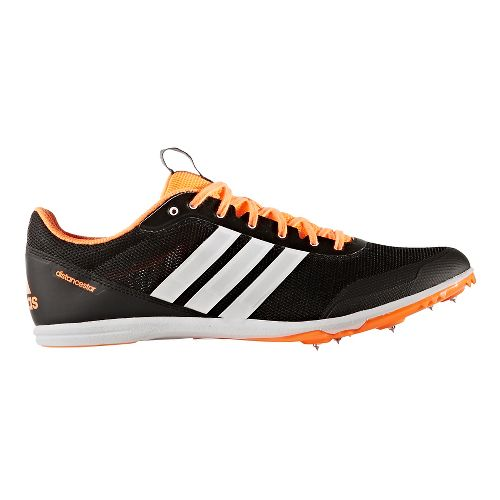 Mens adidas Distancestar Track and Field Shoe - Black/White/Orange 12.5