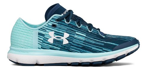 Womens Under Armour Speedform Velociti GR Running Shoe - Ink/Blue 7.5