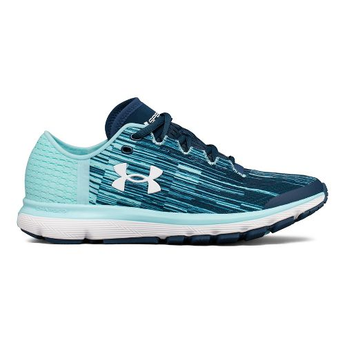 Womens Under Armour Speedform Velociti GR Running Shoe - Ink/Blue 8.5