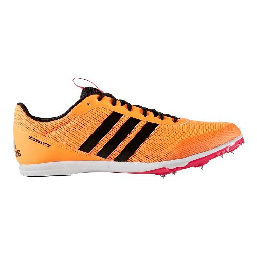 Womens adidas Distancestar Track and Field Shoe - Orange/Black 10.5