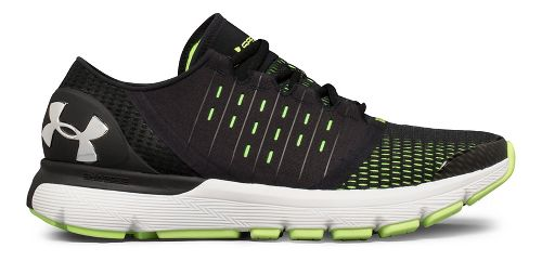 Mens Under Armour Speedform Europa Running Shoe - Black/Lime 11.5