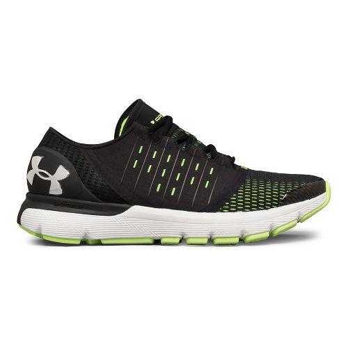 Mens Under Armour Speedform Europa Running Shoe - Black/Lime 10.5