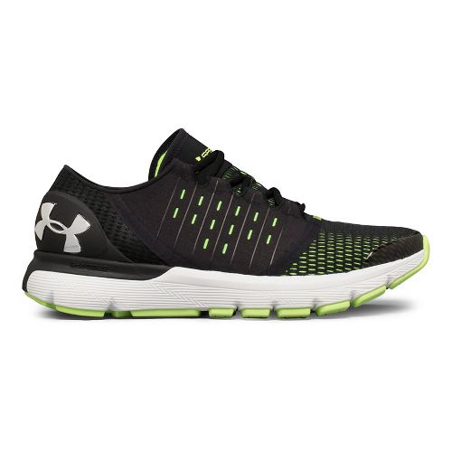 Mens Under Armour Speedform Europa Running Shoe - Black/Lime 11.5