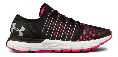 Womens Under Armour Speedform Europa Running Shoe - Black/Pink 6.5