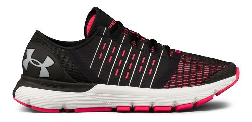 Womens Under Armour Speedform Europa Running Shoe - Black/Pink 8.5