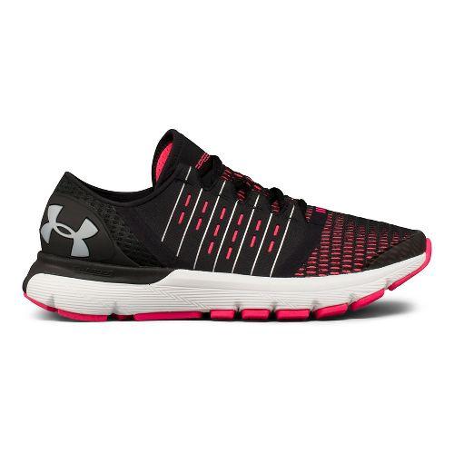 Womens Under Armour Speedform Europa Running Shoe - Black/Pink 7.5
