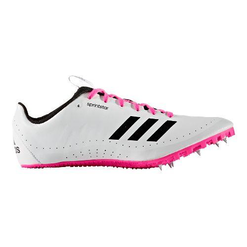 Womens adidas Sprintstar Track and Field Shoe - White/Black/Pink 8