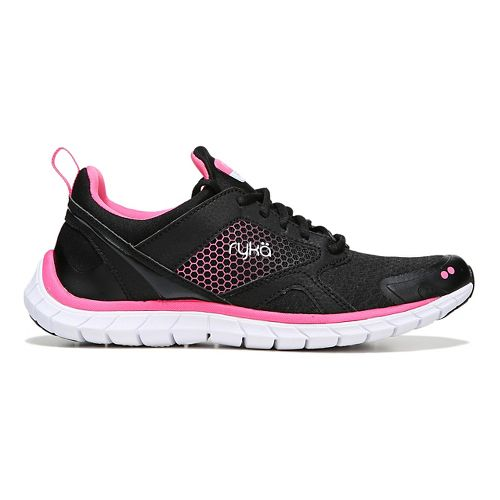 Womens Ryka Pria Running Shoe - Black/Pink 10.5