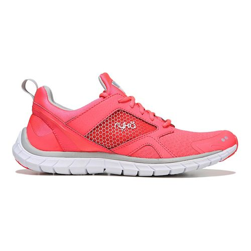 Womens Ryka Pria Running Shoe - Coral/Silver 7.5