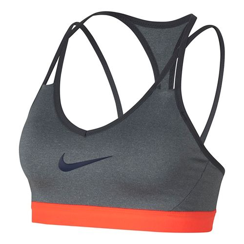 Womens Nike Pro Indy Cooling Sports Bra - Heather Grey XL