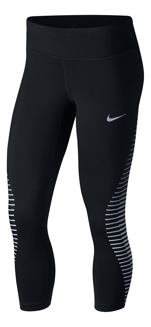 Womens Nike Power Epic Run GX Crop Pants - Black L