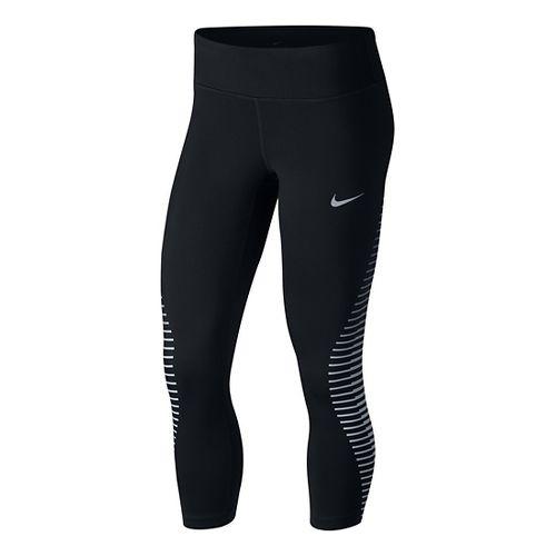Womens Nike Power Epic Run GX Crop Pants - Black L