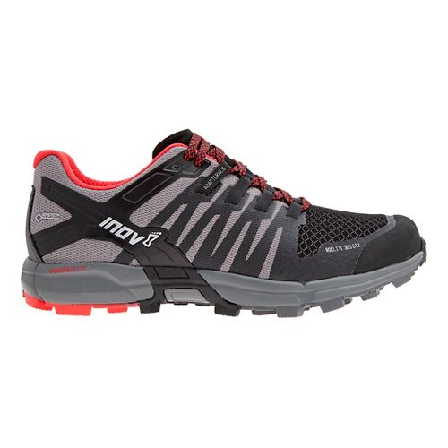Mens Inov-8 Roclite 305 GTX Trail Running Shoe - Black/Red 10.5