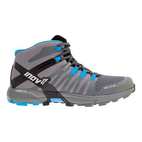 Mens Inov-8 Roclite 325 Trail Running Shoe - Dark Grey/Blue 11.5