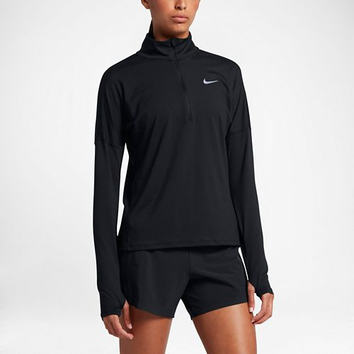 Womens Nike Dry Element Half-Zips & Hoodies Technical Tops - Black XS