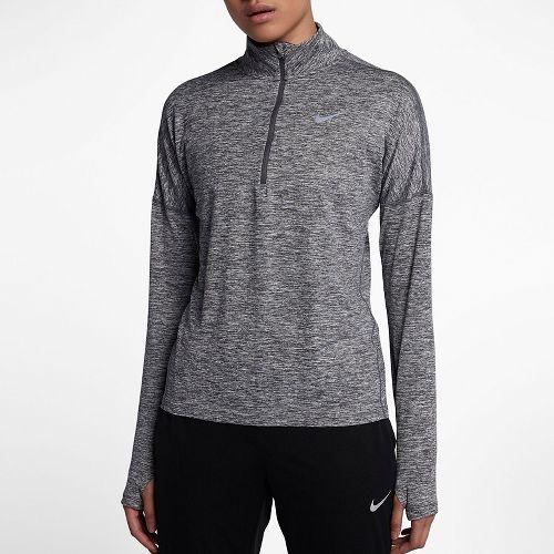 Womens Nike Dry Element Half-Zips & Hoodies Technical Tops - Dark Grey M
