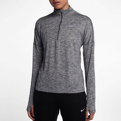 Womens Nike Dry Element Half-Zips & Hoodies Technical Tops - Dark Grey L