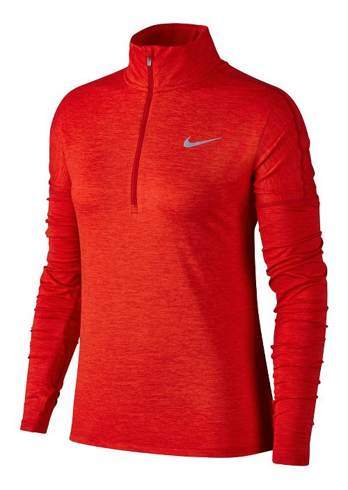 Womens Nike Dry Element Half-Zips & Hoodies Technical Tops - Gym Red/Habanero M
