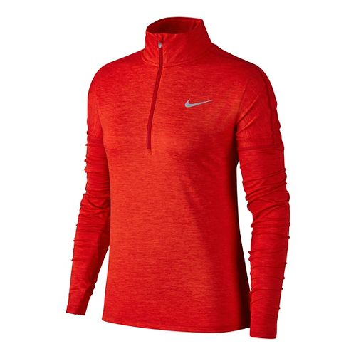 Womens Nike Dry Element Half-Zips & Hoodies Technical Tops - Gym Red/Habanero L