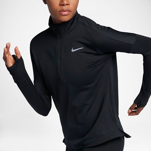 Womens Nike Therma Sphere Element Half-Zips & Hoodies Technical Tops - Black XS