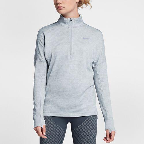 Womens Nike Therma Sphere Element Half-Zips & Hoodies Technical Tops - Wolf Grey XL