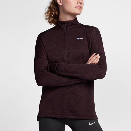 Womens Nike Therma Sphere Element Half-Zips & Hoodies Technical Tops - Port Wine L