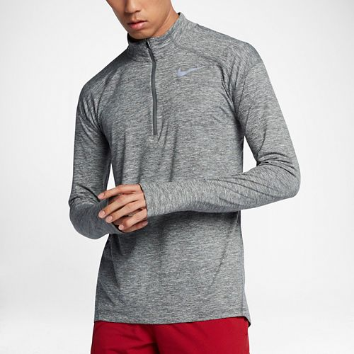 Mens Nike Dry Element Top Half-Zips & Hoodies Technical Tops - Dark Grey/Heather M