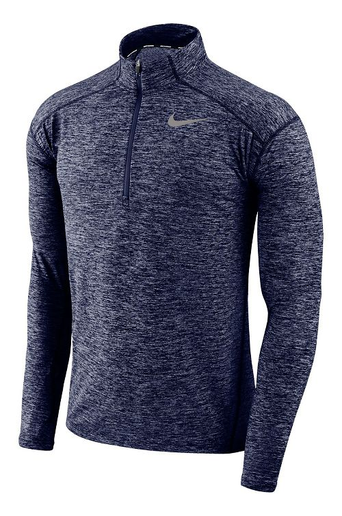 Mens Nike Dry Element Top Half-Zips & Hoodies Technical Tops - Binary Blue/Heather L