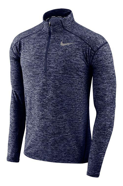 Mens Nike Dry Element Top Half-Zips & Hoodies Technical Tops - Binary Blue/Heather S