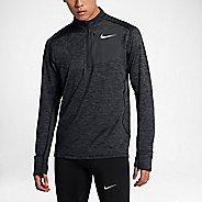 Mens Nike Therma Sphere Element Half-Zips & Hoodies Technical Tops - Black/Heather L