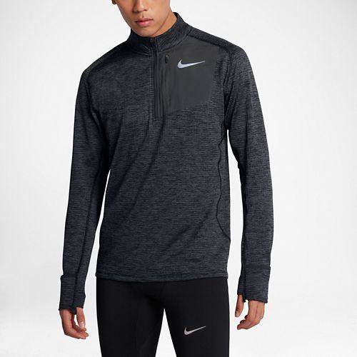 Mens Nike Therma Sphere Element Half-Zips & Hoodies Technical Tops - Black/Heather M