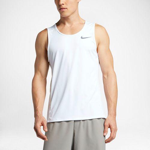 Mens Nike Dry Miler Tank Sleeveless & Tank Technical Tops - White S