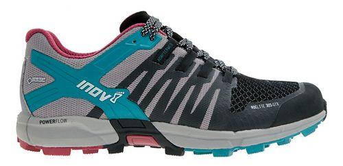 Womens Inov-8 Roclite 305 GTX Trail Running Shoe - Black/Grey/Teal 10