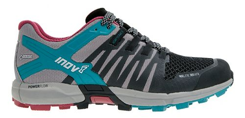Womens Inov-8 Roclite 305 GTX Trail Running Shoe - Black/Grey/Teal 9