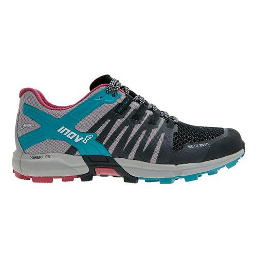 Womens Inov-8 Roclite 305 GTX Trail Running Shoe - Black/Grey/Teal 11