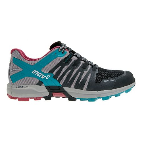Womens Inov-8 Roclite 305 GTX Trail Running Shoe - Black/Grey/Teal 9.5