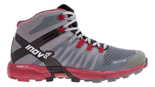 Womens Inov-8 Roclite 325 Trail Running Shoe - Grey/Dark Red 10