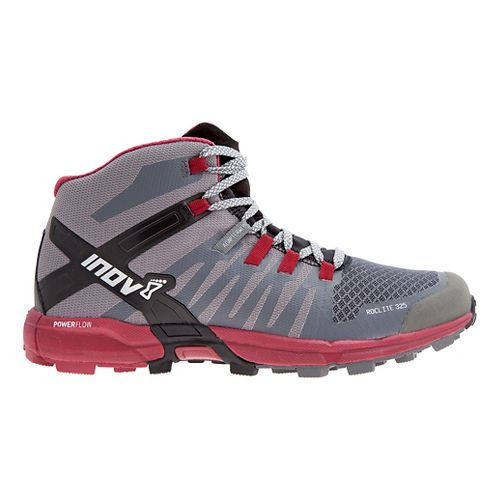 Womens Inov-8 Roclite 325 Trail Running Shoe - Grey/Dark Red 6