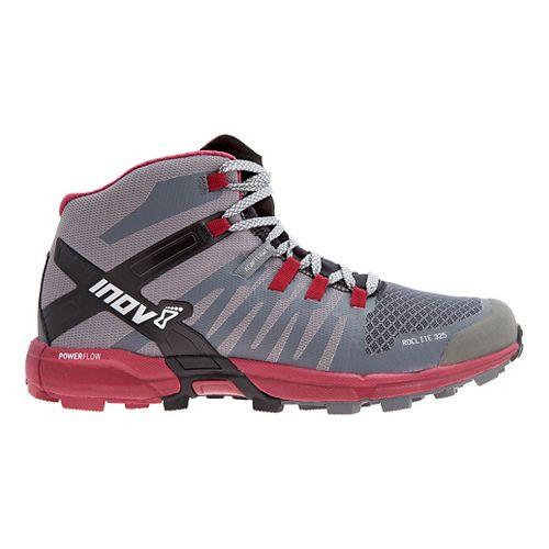 Womens Inov-8 Roclite 325 Trail Running Shoe - Grey/Dark Red 9.5