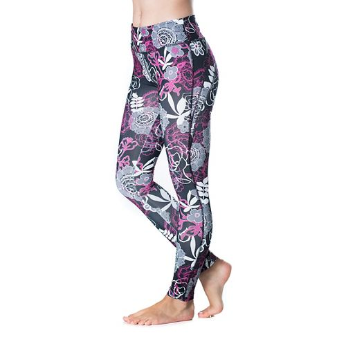 Womens Skirt Sports Go the Distance Tight Tights & Leggings Pants - Enchanted Print XS ...