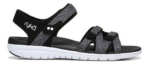 Womens Ryka Savannah Sandals Shoe - Black/Grey 6