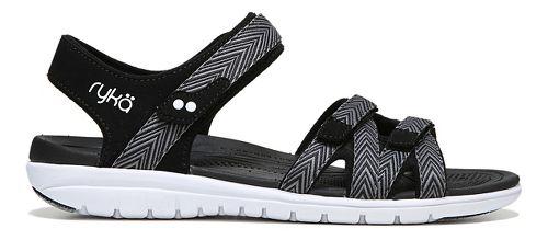 Womens Ryka Savannah Sandals Shoe - Black/Grey 7.5