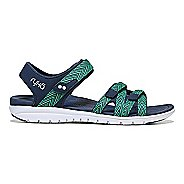 Womens Ryka Savannah Sandals Shoe - Navy/Green 6.5