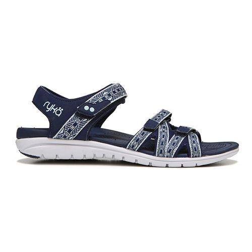 Womens Ryka Savannah Sandals Shoe - Navy/Green 7.5