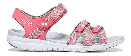 Womens Ryka Savannah Sandals Shoe - Coral/Grey 6